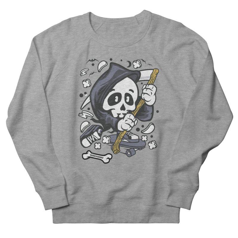 Skate Or Die Women's French Terry Sweatshirt by WackyToonz