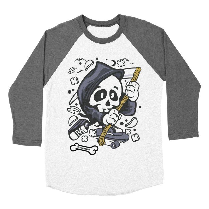 Skate Or Die Women's Baseball Triblend Longsleeve T-Shirt by WackyToonz