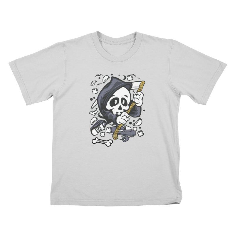 Skate Or Die Kids T-Shirt by WackyToonz