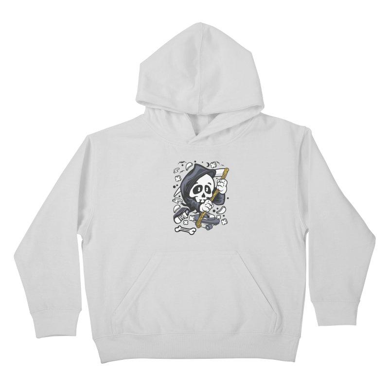 Skate Or Die Kids Pullover Hoody by WackyToonz