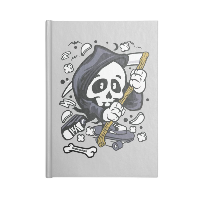 Skate Or Die Accessories Blank Journal Notebook by WackyToonz