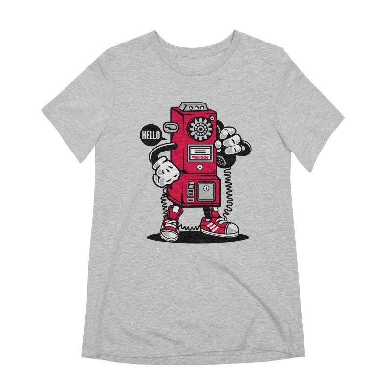 Incoming Call Women's Extra Soft T-Shirt by WackyToonz
