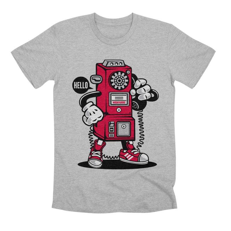 Incoming Call Men's Premium T-Shirt by WackyToonz