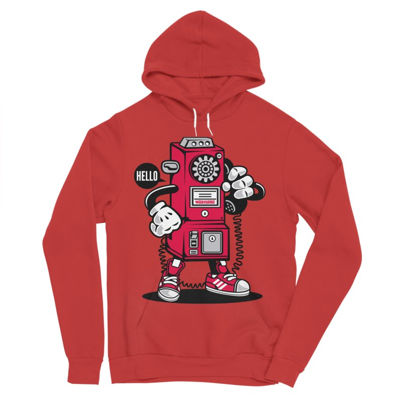 Incoming Call Men's Sponge Fleece Pullover Hoody by WackyToonz