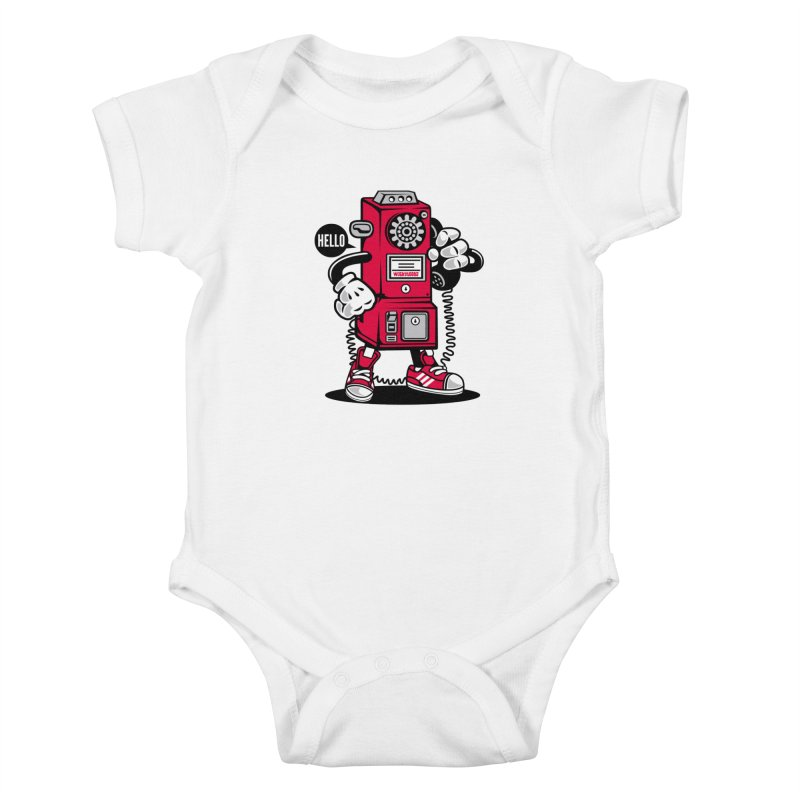 Incoming Call Kids Baby Bodysuit by WackyToonz