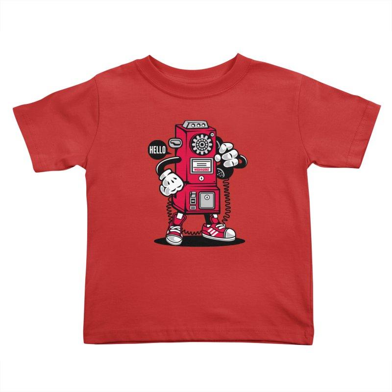 Incoming Call Kids Toddler T-Shirt by WackyToonz