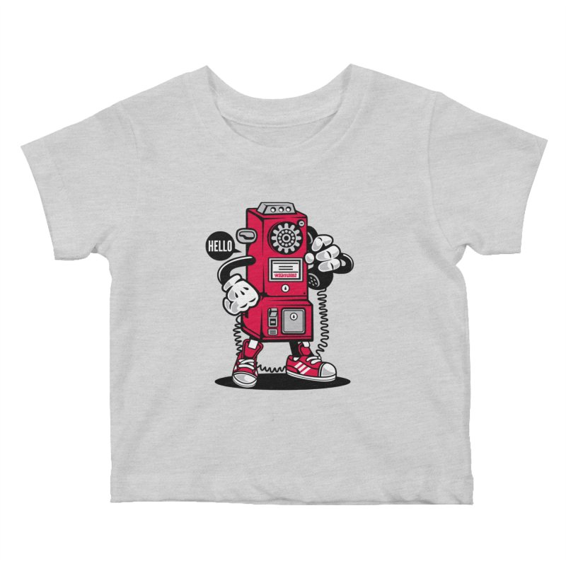 Incoming Call Kids Baby T-Shirt by WackyToonz