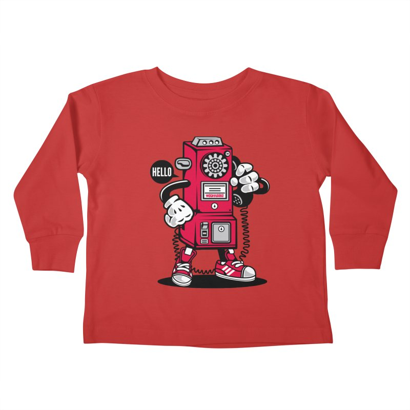 Incoming Call Kids Toddler Longsleeve T-Shirt by WackyToonz