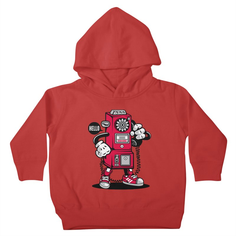 Incoming Call Kids Toddler Pullover Hoody by WackyToonz