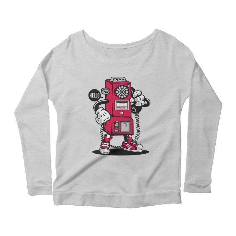 Incoming Call Women's Scoop Neck Longsleeve T-Shirt by WackyToonz
