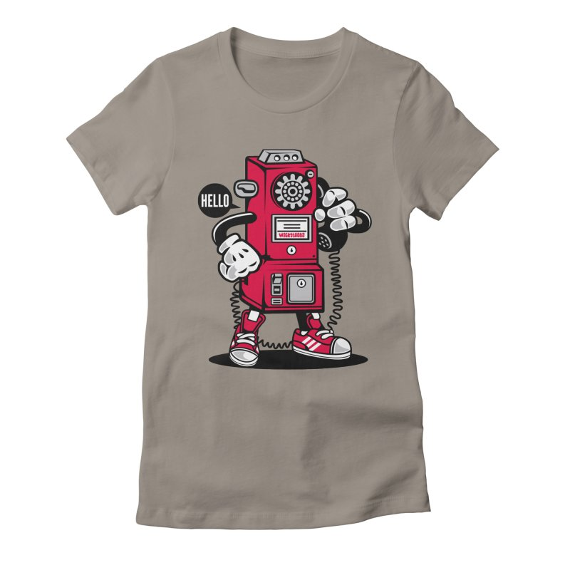 Incoming Call Women's Fitted T-Shirt by WackyToonz