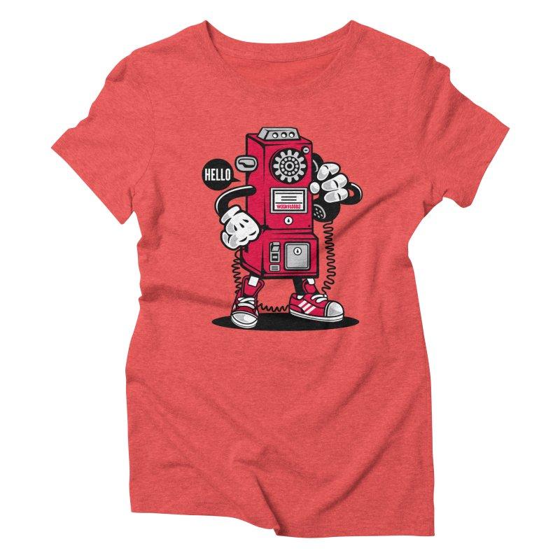 Incoming Call Women's Triblend T-Shirt by WackyToonz