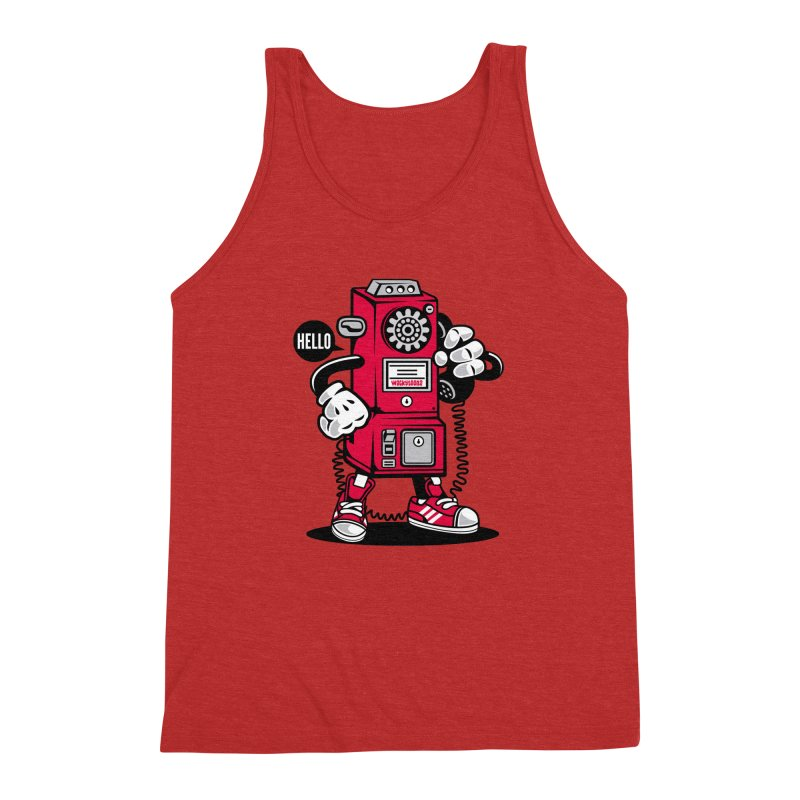 Incoming Call Men's Triblend Tank by WackyToonz