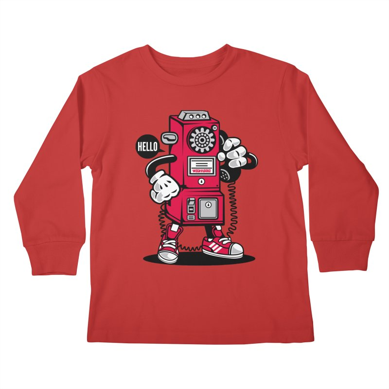 Incoming Call Kids Longsleeve T-Shirt by WackyToonz