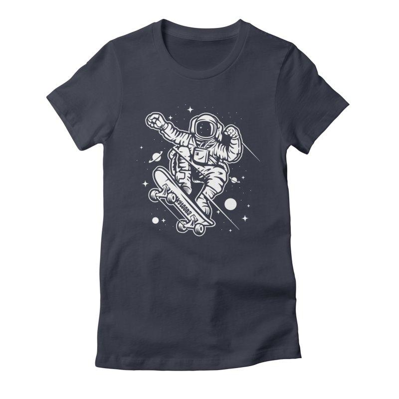 Skate Space Women's T-Shirt by WackyToonz