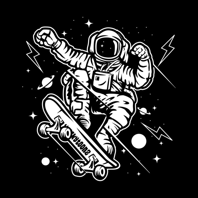 Skate Space Men's T-Shirt by WackyToonz
