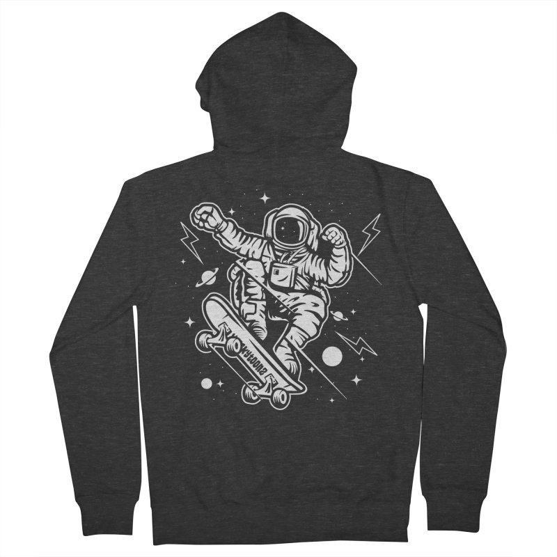Skate Space Women's French Terry Zip-Up Hoody by WackyToonz