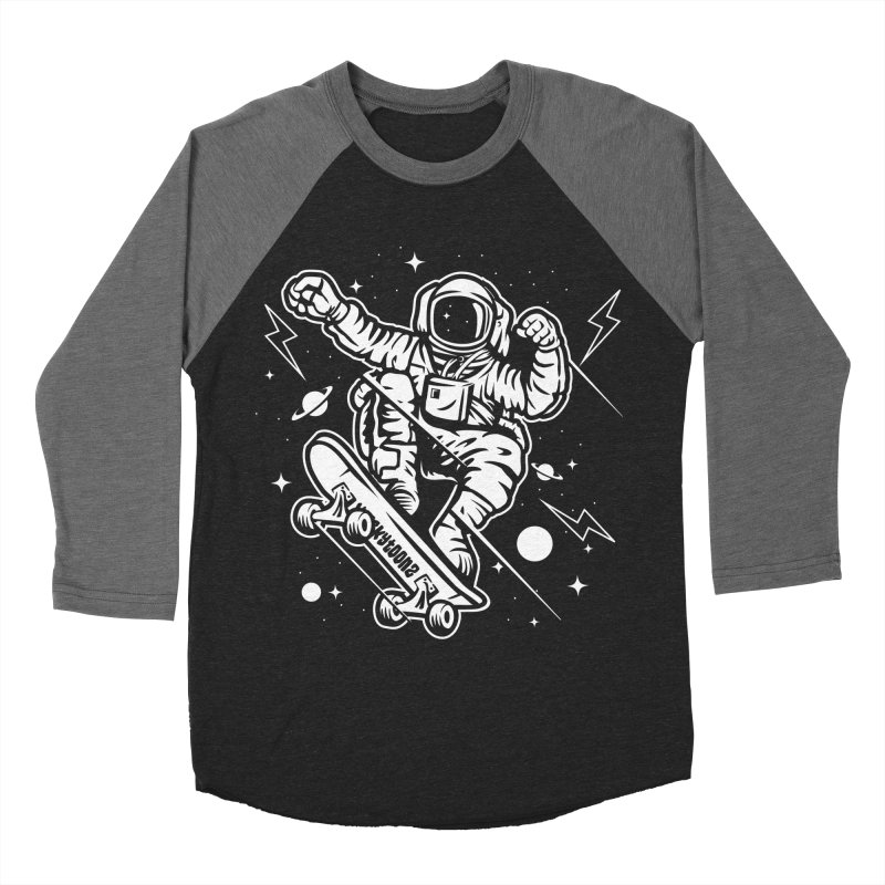 Skate Space Men's Baseball Triblend Longsleeve T-Shirt by WackyToonz