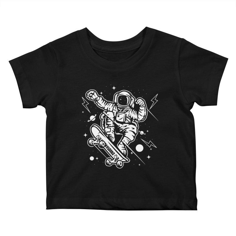 Skate Space Kids Baby T-Shirt by WackyToonz