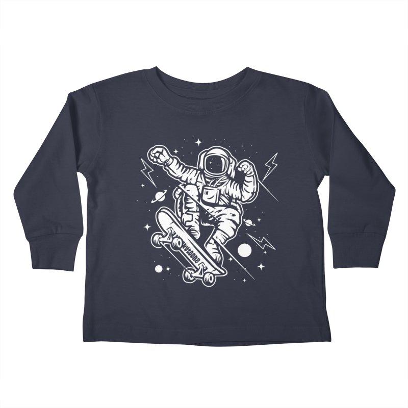 Skate Space Kids Toddler Longsleeve T-Shirt by WackyToonz