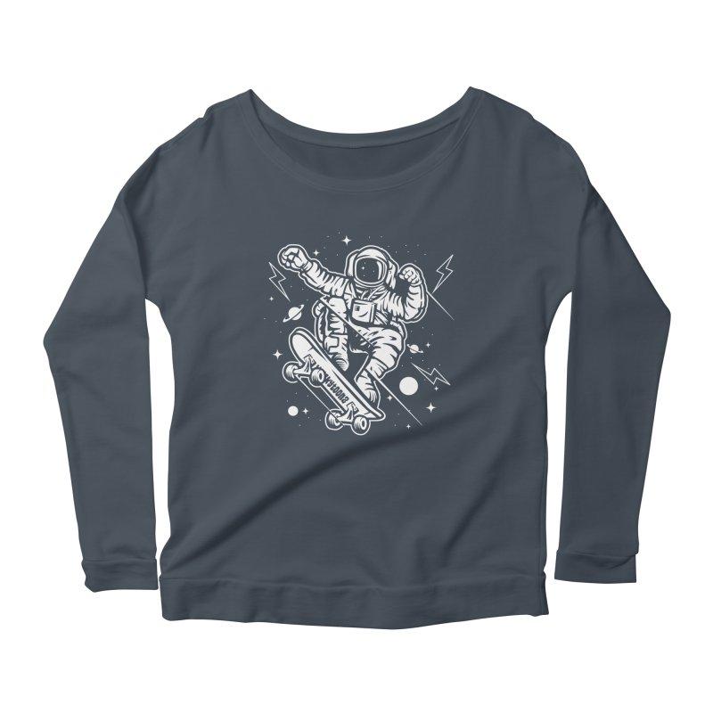 Skate Space Women's Scoop Neck Longsleeve T-Shirt by WackyToonz