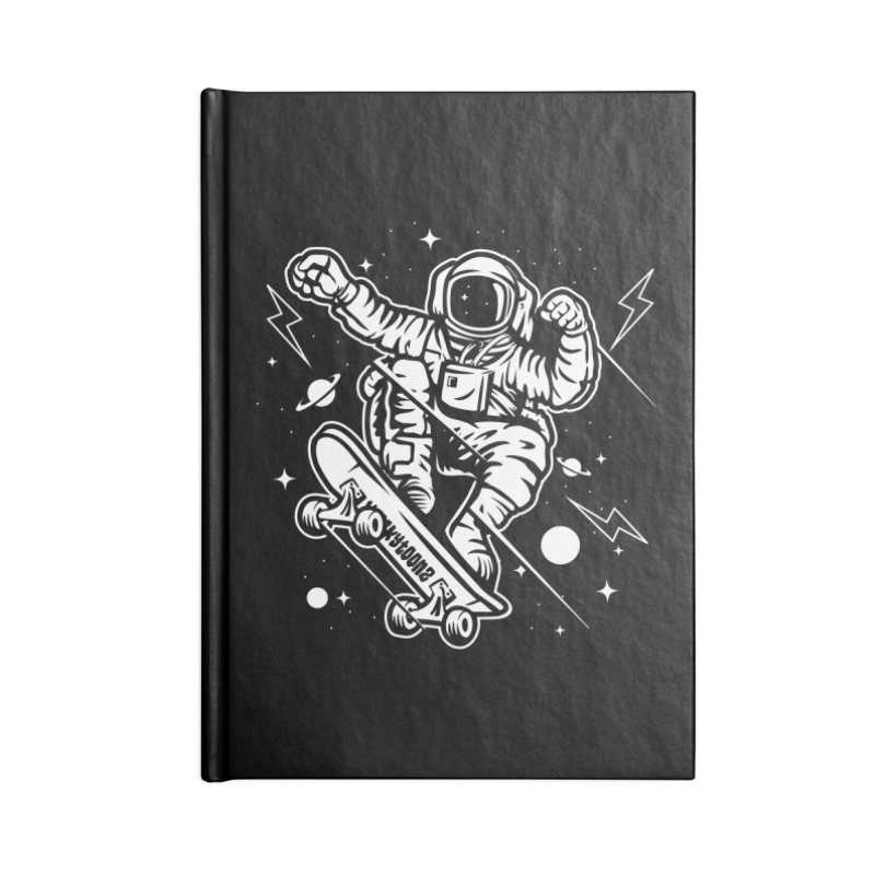 Skate Space Accessories Blank Journal Notebook by WackyToonz