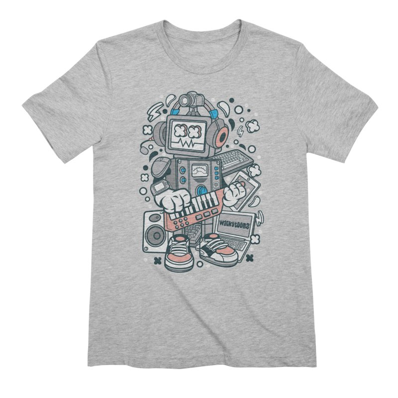 Techno Robot Men's T-Shirt by WackyToonz