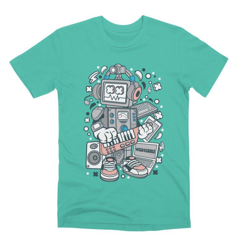 Techno Robot Men's Premium T-Shirt by WackyToonz