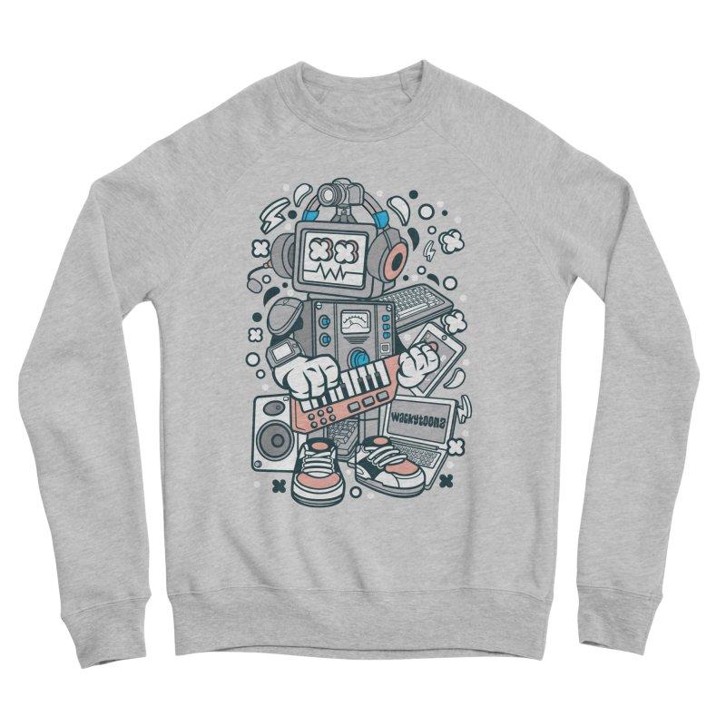 Techno Robot Women's Sponge Fleece Sweatshirt by WackyToonz