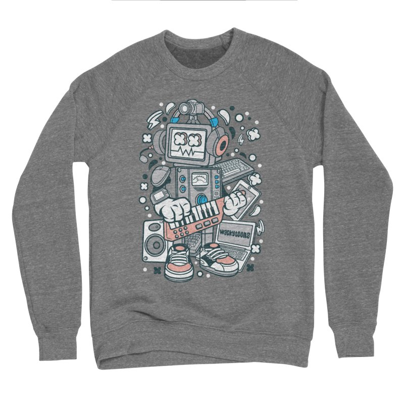 Techno Robot Men's Sponge Fleece Sweatshirt by WackyToonz