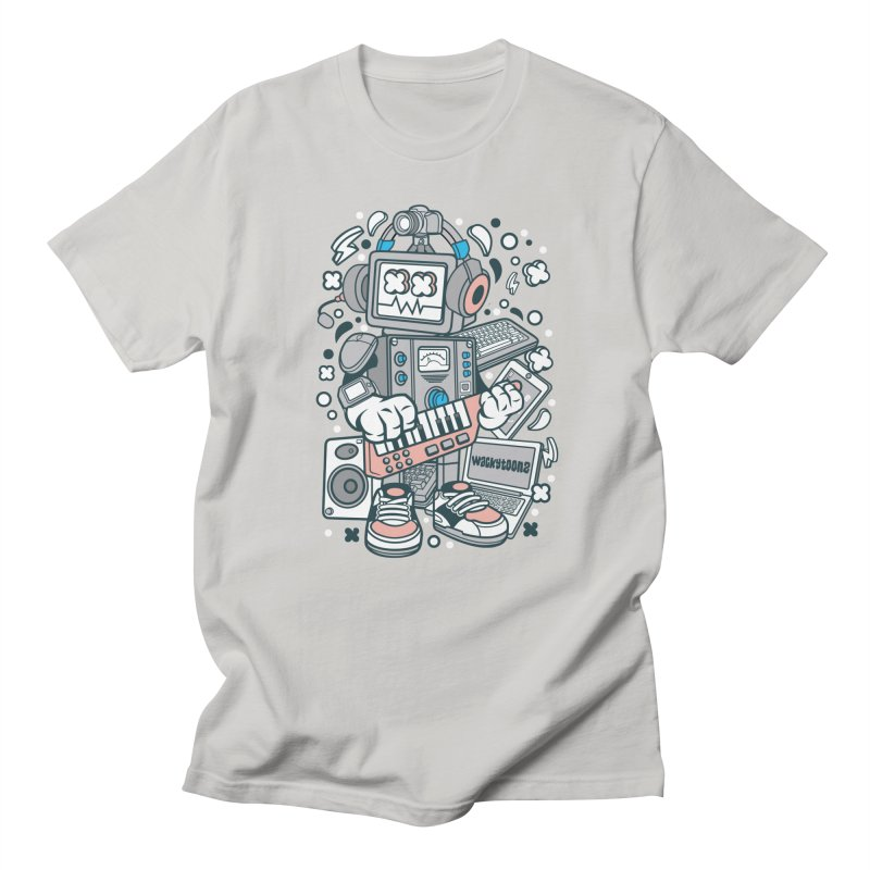 Techno Robot Men's T-Shirt by WackyToonz