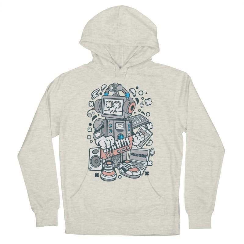 Techno Robot Women's French Terry Pullover Hoody by WackyToonz