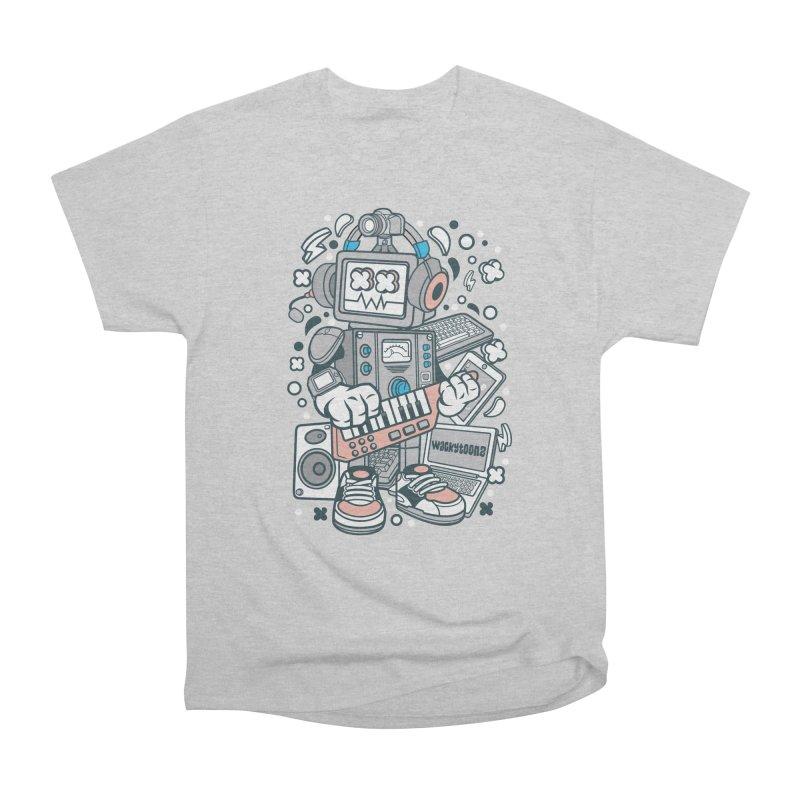 Techno Robot Women's Heavyweight Unisex T-Shirt by WackyToonz