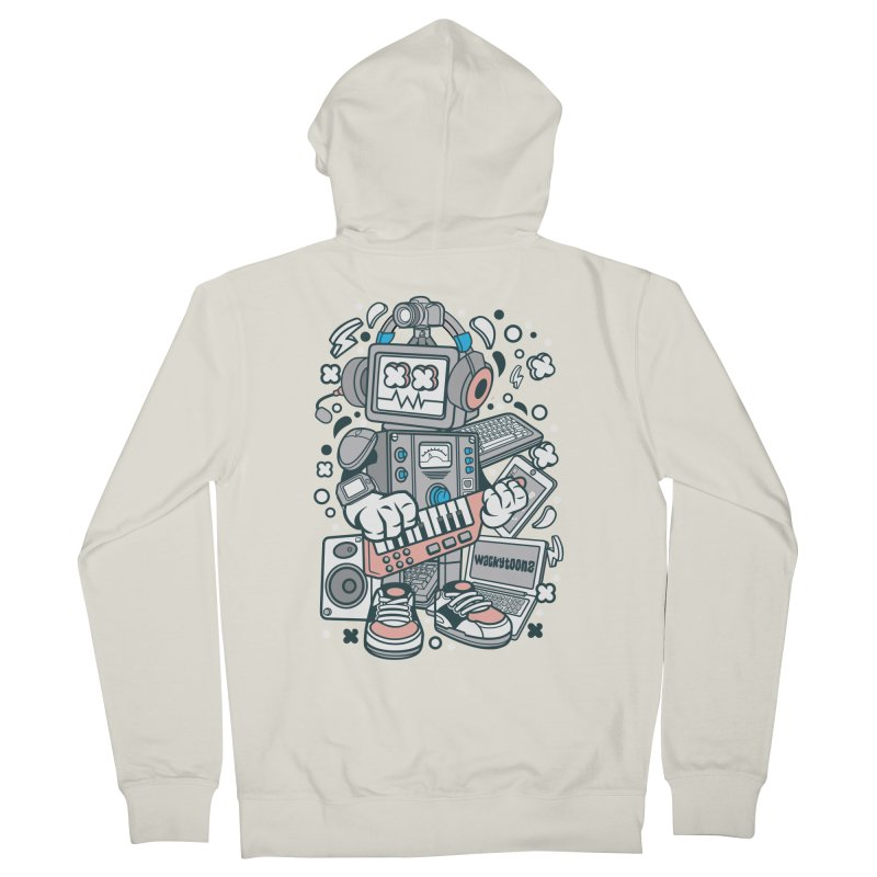 Techno Robot Men's French Terry Zip-Up Hoody by WackyToonz