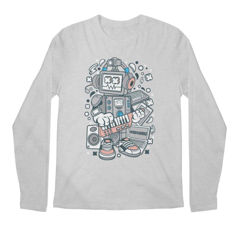 Techno Robot Men's Regular Longsleeve T-Shirt by WackyToonz