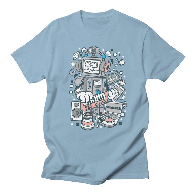 Techno Robot Men's Regular T-Shirt by WackyToonz