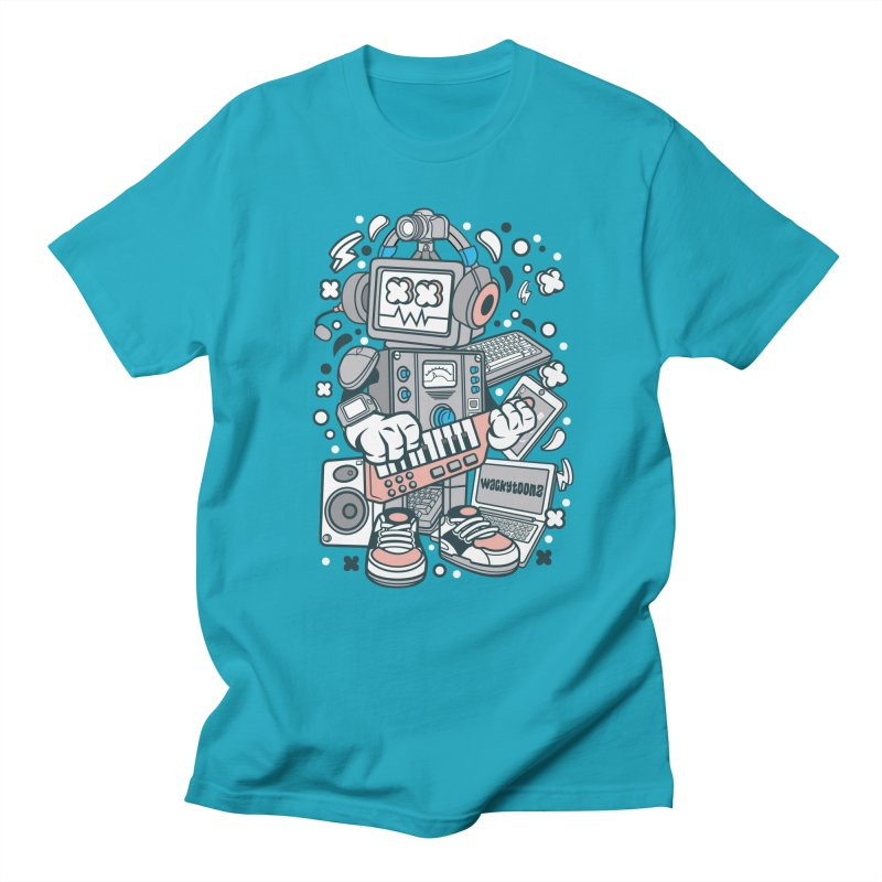 Techno Robot Men's Regular T-Shirt by WackyToonz