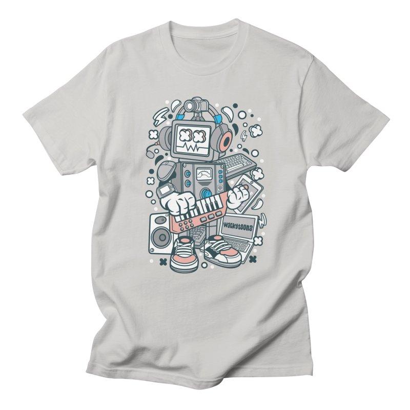 Techno Robot Women's Regular Unisex T-Shirt by WackyToonz