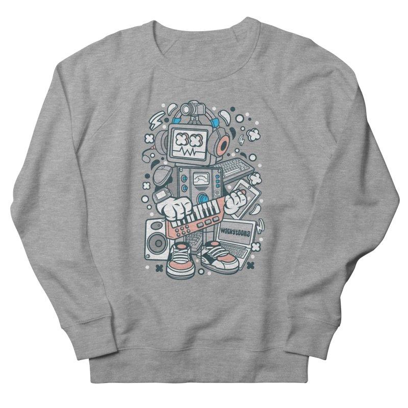 Techno Robot Women's French Terry Sweatshirt by WackyToonz