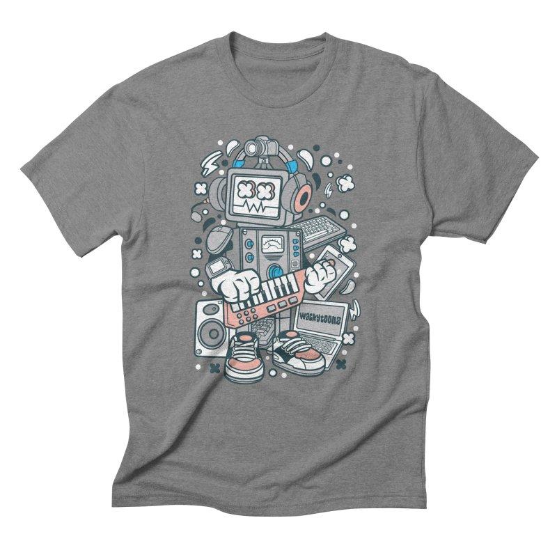 Techno Robot Men's Triblend T-Shirt by WackyToonz