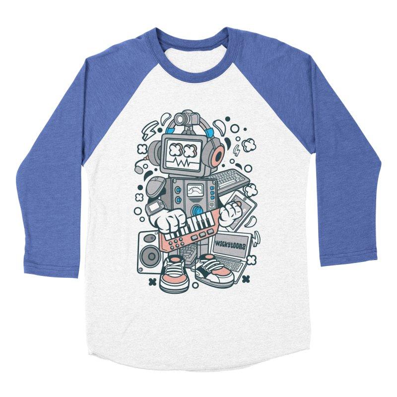 Techno Robot Women's Baseball Triblend Longsleeve T-Shirt by WackyToonz