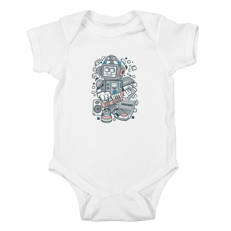 Techno Robot Kids Baby Bodysuit by WackyToonz