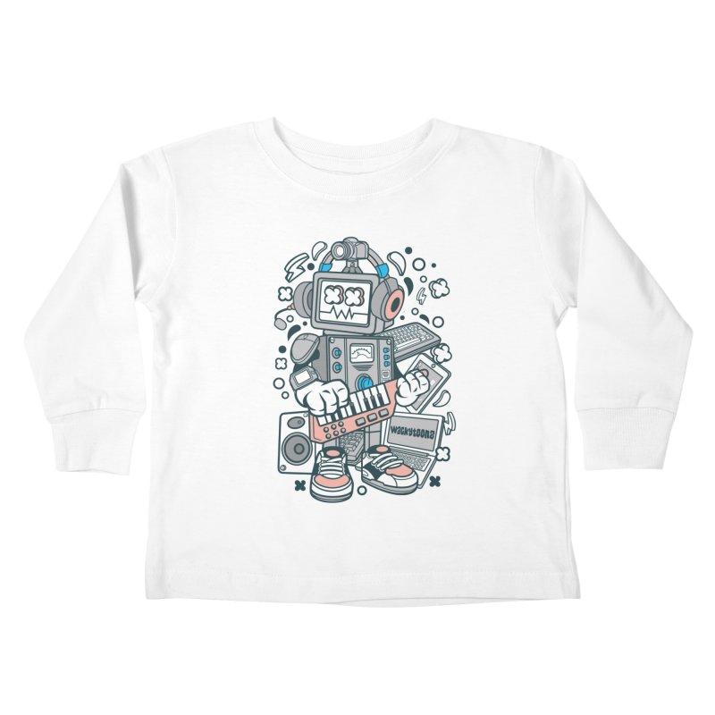 Techno Robot Kids Toddler Longsleeve T-Shirt by WackyToonz