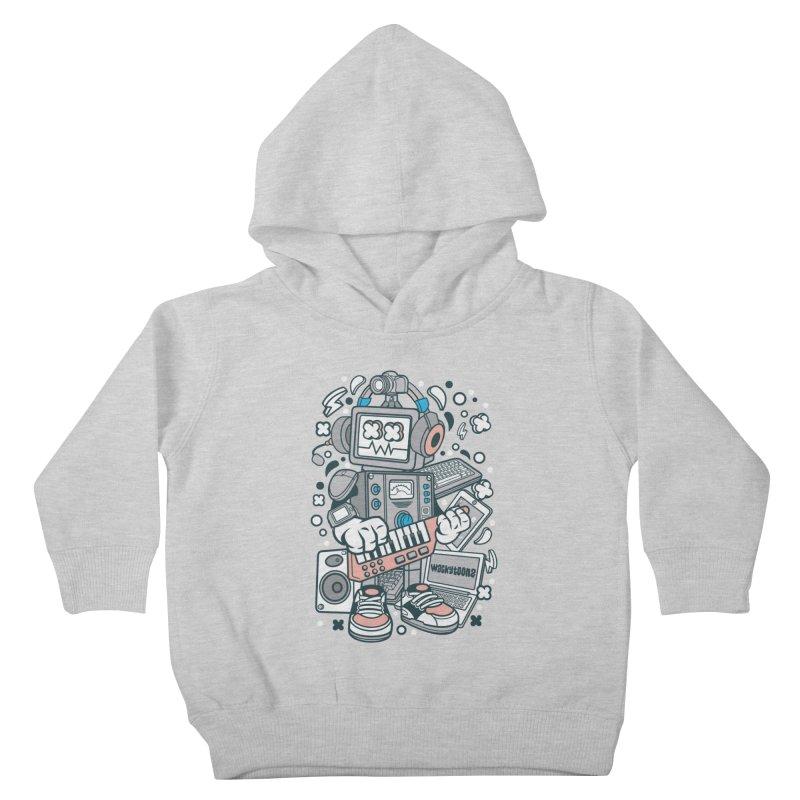 Techno Robot Kids Toddler Pullover Hoody by WackyToonz
