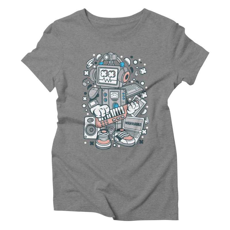 Techno Robot Women's Triblend T-Shirt by WackyToonz