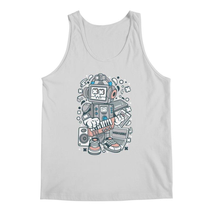 Techno Robot Men's Regular Tank by WackyToonz