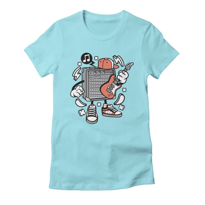 Jam Session Women's Fitted T-Shirt by WackyToonz