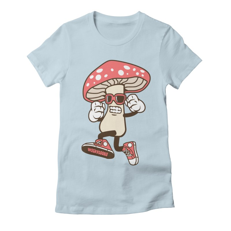 Magic Mushroom Women's T-Shirt by WackyToonz