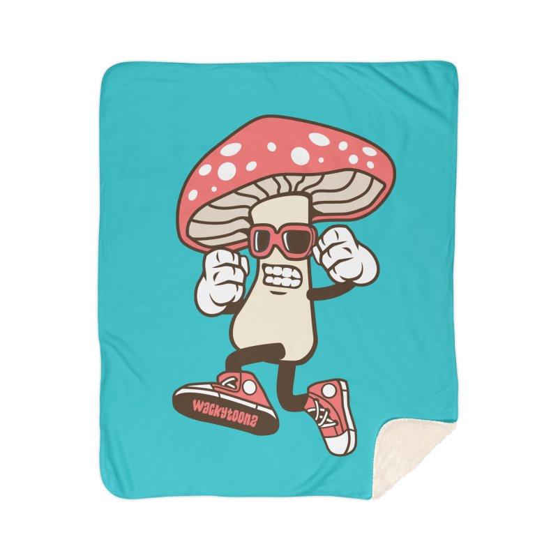 Magic Mushroom Home Blanket by WackyToonz