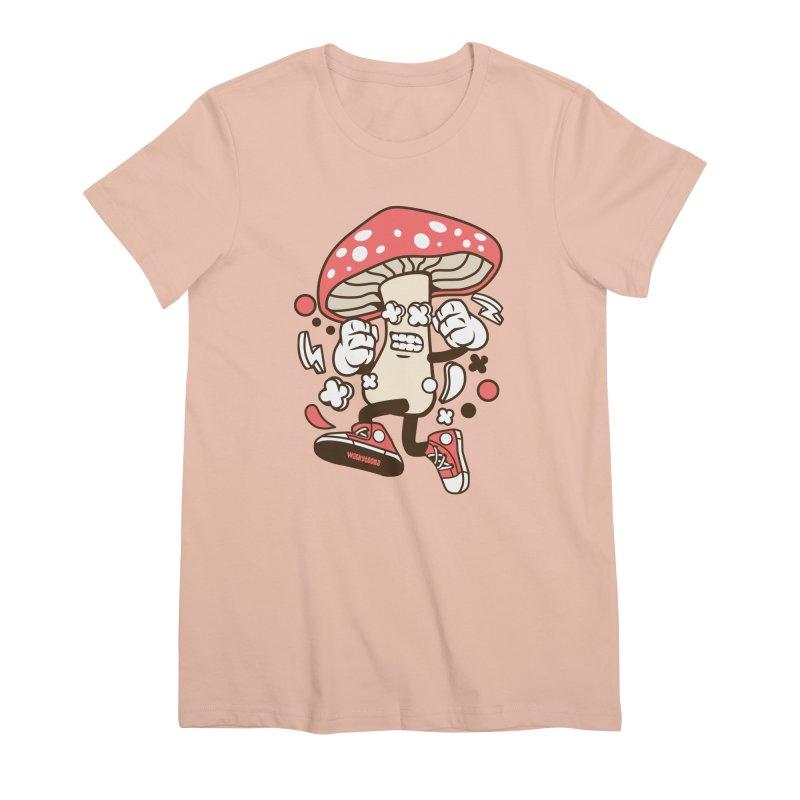 Magic Mushroom Women's Premium T-Shirt by WackyToonz